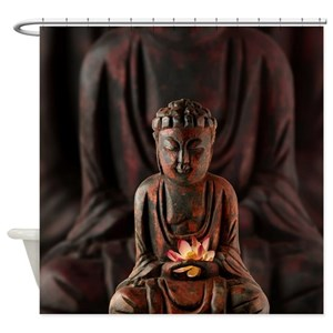 Asian Buddha Shower Curtains
