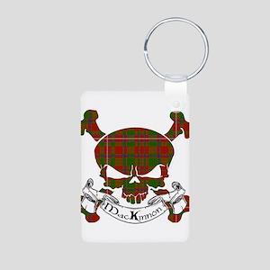 MacKinnon Tartan Skull Aluminum Photo Keychain