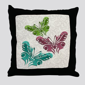 Butterfly Trio Throw Pillow