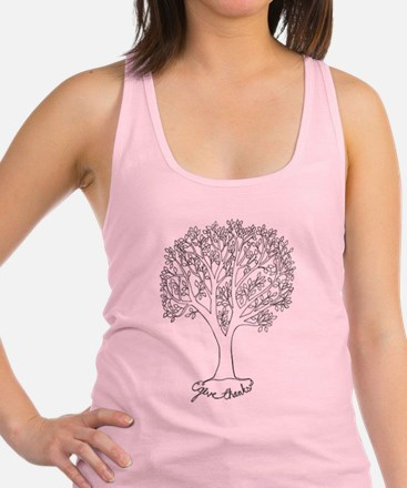 Give Thanks Tree Racerback Tank Top