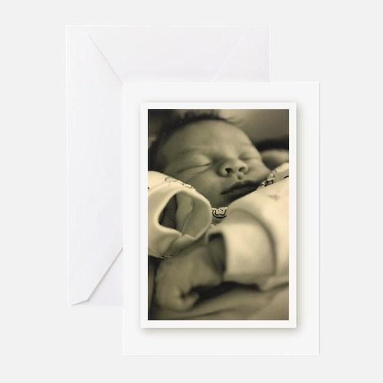 camara sleepyBabyBoy Greeting Cards (Pk of 10)