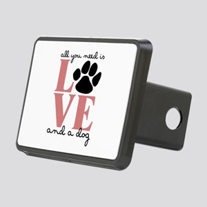 Love And A Dog Hitch Cover