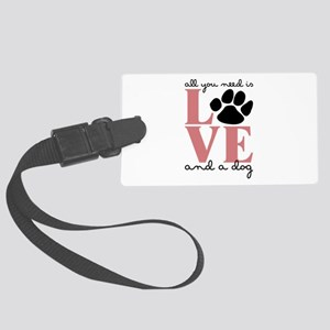 Love And A Dog Luggage Tag