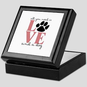 Love And A Dog Keepsake Box