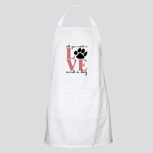 Love And A Dog Apron