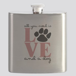 Love And A Dog Flask