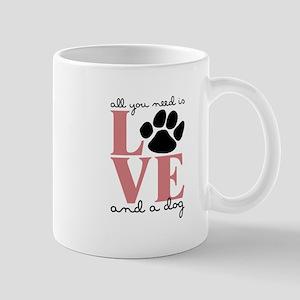 Love And A Dog Mugs