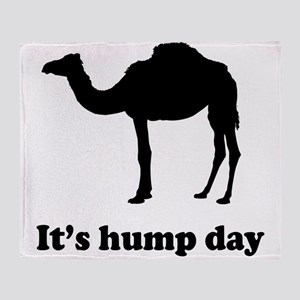 It's hump day Throw Blanket