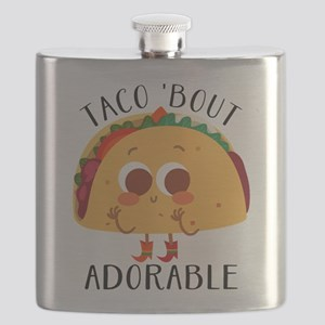 Taco 'Bout Adorable - Cute taco design Flask