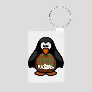 MacKinnon Tartan Penguin Aluminum Photo Keychain