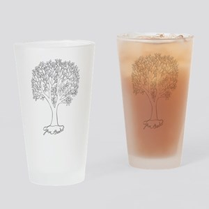 Give Thanks Tree Drinking Glass