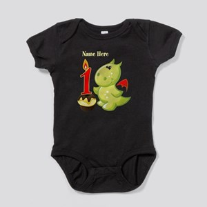 1st Birthday Dragon Baby Bodysuit
