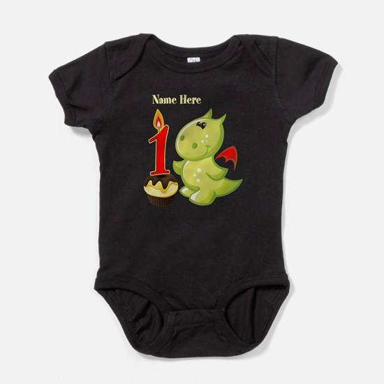1st Birthday Dragon Baby Bodysuit