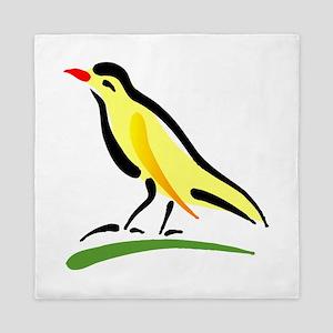 artistic canary Queen Duvet