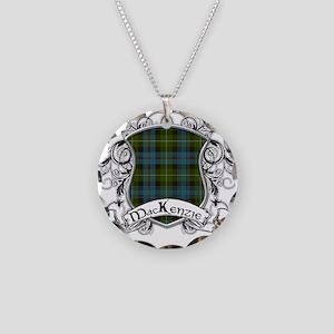 MacKenzie Tartan Shield Necklace Circle Charm