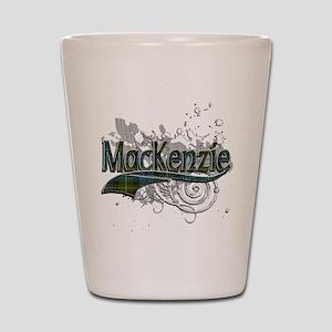 MacKenzie Tartan Grunge Shot Glass
