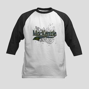 MacKenzie Tartan Grunge Kids Baseball Jersey