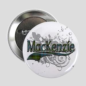 """MacKenzie Tartan Grunge 2.25"""" Button"""