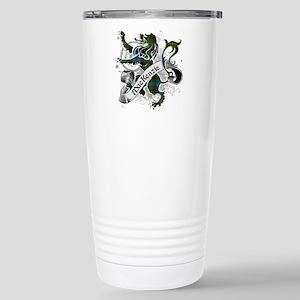 MacKenzie Tartan Lion Stainless Steel Travel Mug