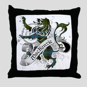MacKenzie Tartan Lion Throw Pillow