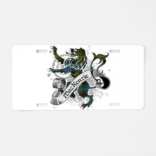 MacKenzie Tartan Lion Aluminum License Plate
