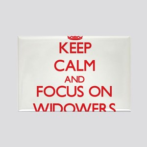 Keep Calm and focus on Widowers Magnets