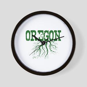 Oregon Roots Wall Clock