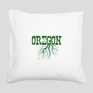 Oregon Roots Square Canvas Pillow