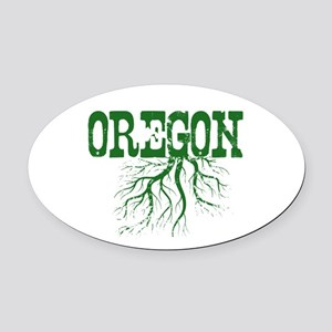 Oregon Roots Oval Car Magnet