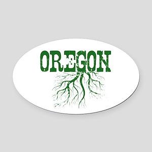 Oregon Roots Oval Car Magnet