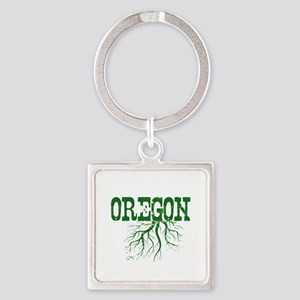 Oregon Roots Square Keychain