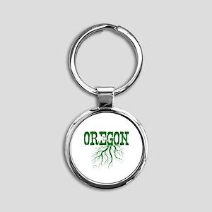 Oregon Roots Round Keychain