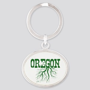 Oregon Roots Oval Keychain