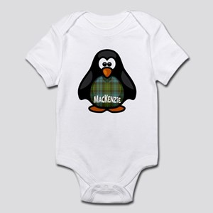 MacKenzie Tartan Penguin Infant Bodysuit