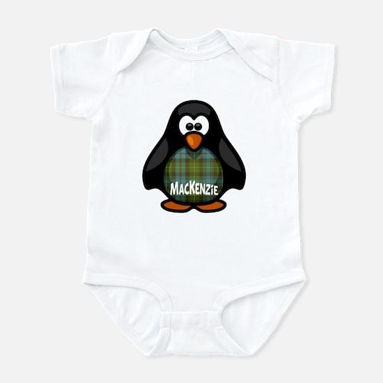 MacKenzie Tartan Penguin Infant Bodysuit