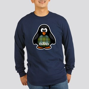 MacKenzie Tartan Penguin Long Sleeve Dark T-Shirt