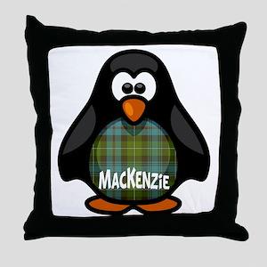 MacKenzie Tartan Penguin Throw Pillow