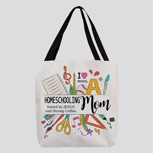 Homeschooling Mom Polyester Tote Bag