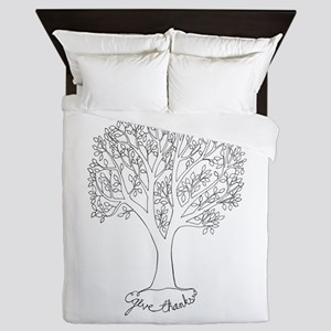 Give Thanks Tree Queen Duvet