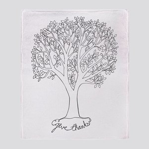 Give Thanks Tree Throw Blanket