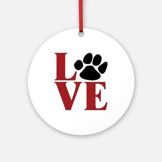 Love Paw Ornament (Round)