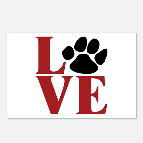 Love Paw Postcards (Package of 8)