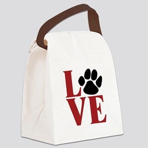 Love Paw Canvas Lunch Bag