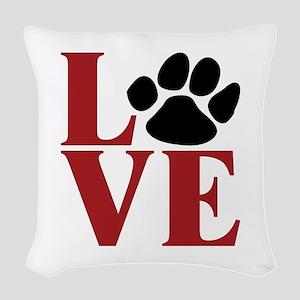 Love Paw Woven Throw Pillow