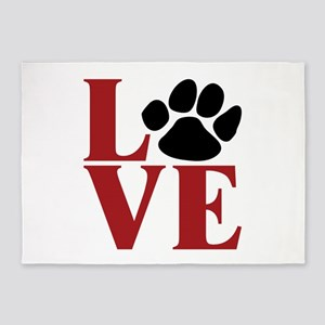 Love Paw 5'x7'Area Rug