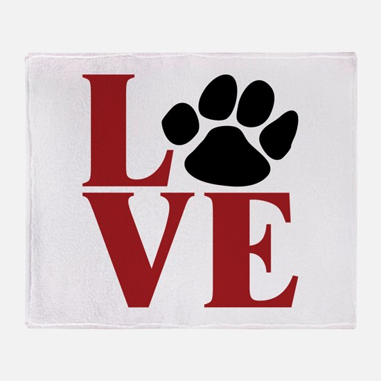 Love Paw Throw Blanket