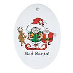 Custom Christmas Ornament (Oval)