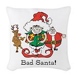 Custom Christmas Woven Throw Pillow