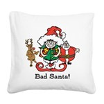 Custom Christmas Square Canvas Pillow