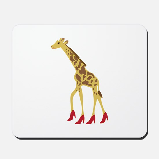 Heeled Giraffe Mousepad